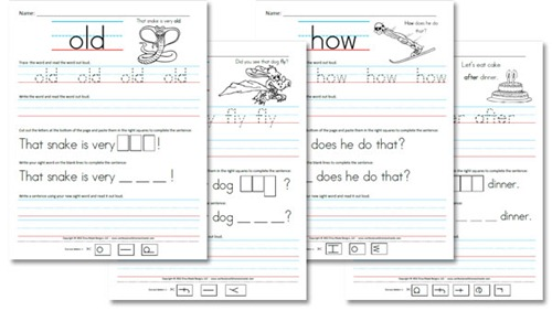 Free Homeschool Worksheets: First Grade Sight Word Sentences