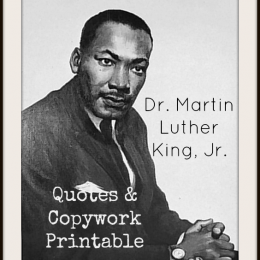Free Martin Luther King Jr Copywork and Resources