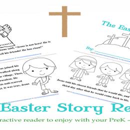 Free The Easter Story Reader for PreK-2nd Grade