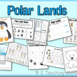 Free Polar Lands Preschool Printable Pack