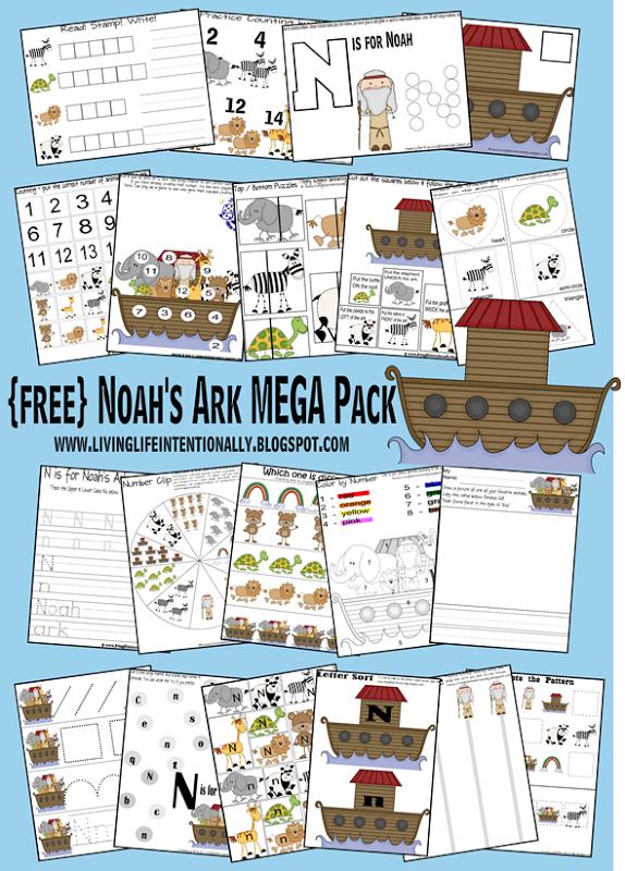 Free Noah's Ark MEGA Printable Pack
