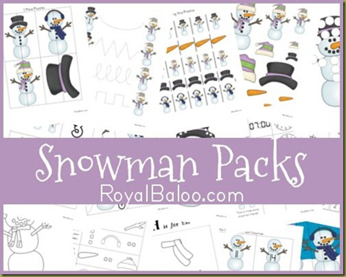 Free Snowman Printable Packs