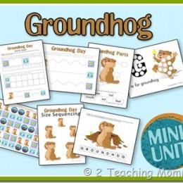 Free Groundhog's Day Printable Set