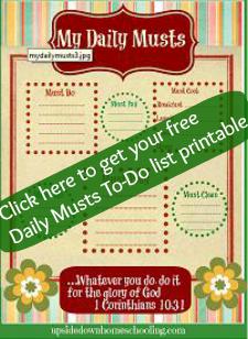 Free Busy Mom's Printable To-Do List