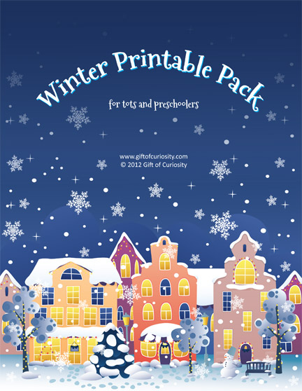 Free Download: Winter Printable Pack for Tots and Preschoolers
