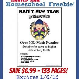 Homeschool Math Freebie