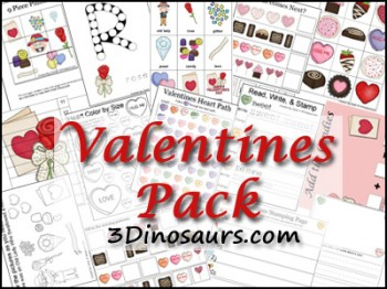 Free Valentines Printable Pack (over 160 Pages!)
