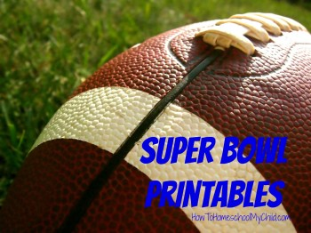 FREE Super Bowl Activities Printables & Activity Guide