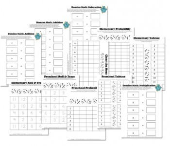 Free Math Worksheets: Dice & Domino Math Games