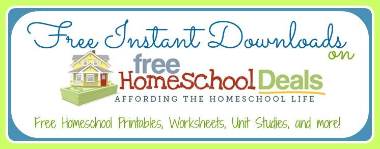 Free Homeschool Instant Downloads