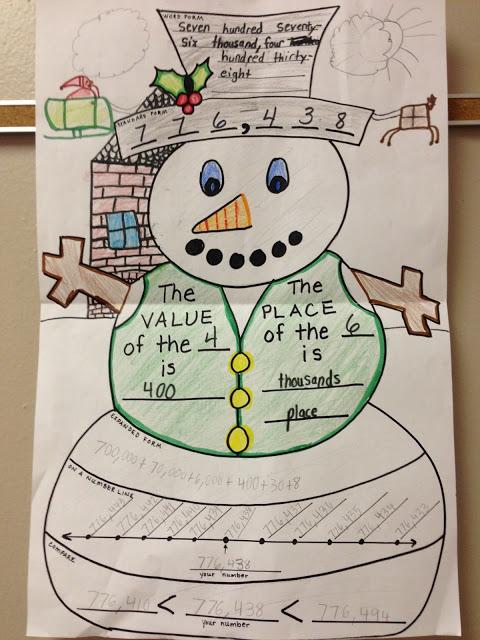 Snowman Place Value