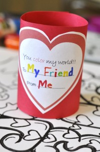 photograph relating to You Color My World Printable named Free of charge Valentine Printable: Yourself Coloration My Environment