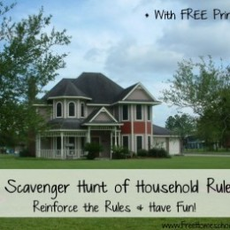 A Scavenger Hunt of Household Rules with Free Printable