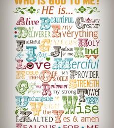 Free Who Is God To Me Printable