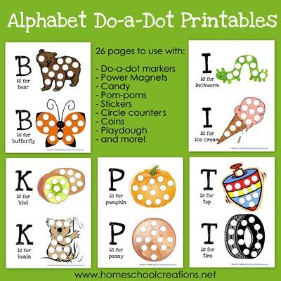 Free Alphabet Do-a-Dot Printables