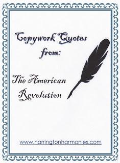 Free Copywork for The American Revolution
