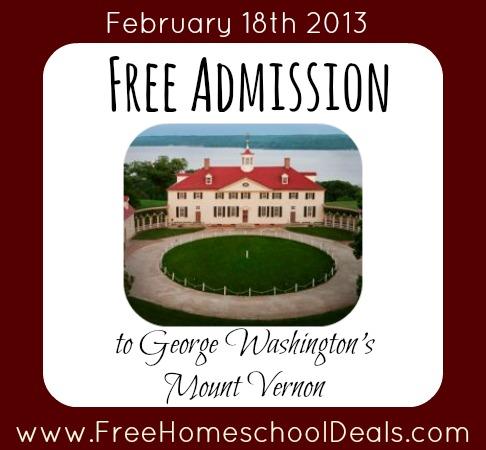 Free Admission to George Washington's Mount Vernon