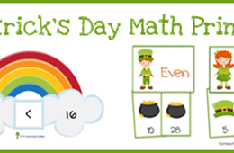 Free St. Patrick's Day Math Printables from Homeschool Creations!