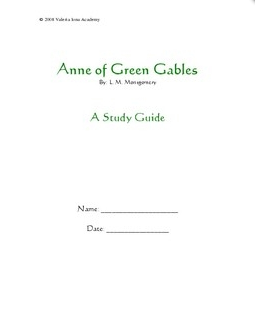 Free Anne of Green Gables Study Guide