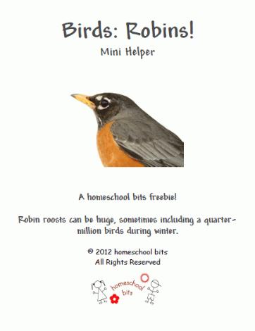 Free Robins Mini Unit Study