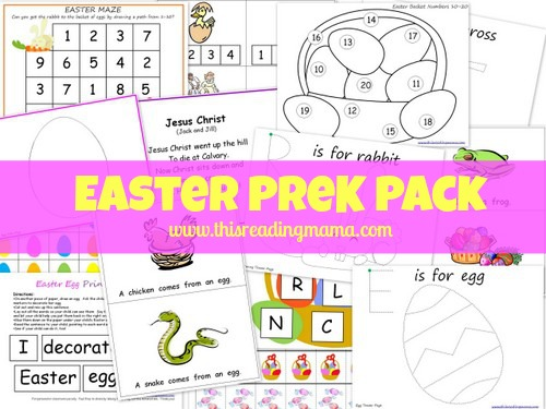 Free Worksheets: Easter PreK Printable Pack