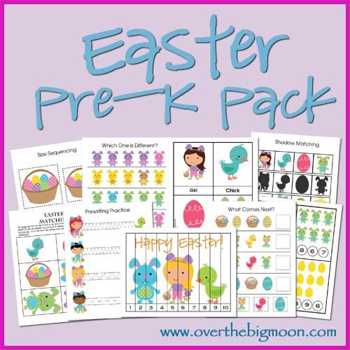 Free Easter Pre-K Printable Pack