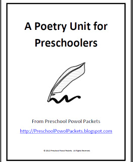 FREE: A Poetry Unit for Preschoolers