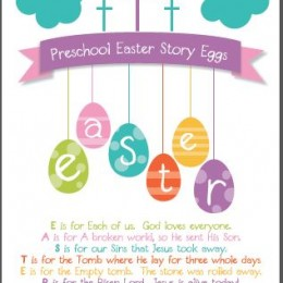 Free Christian Easter Story Egg 8x10 Printable Poem for Preschool Ages