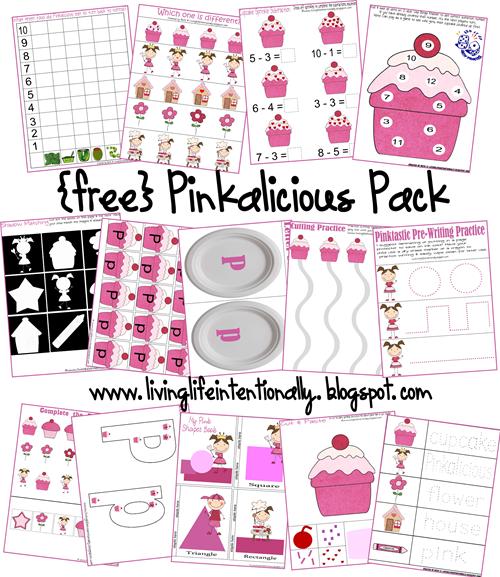 Free Worksheets: Pinkalicious Free Printable Pack
