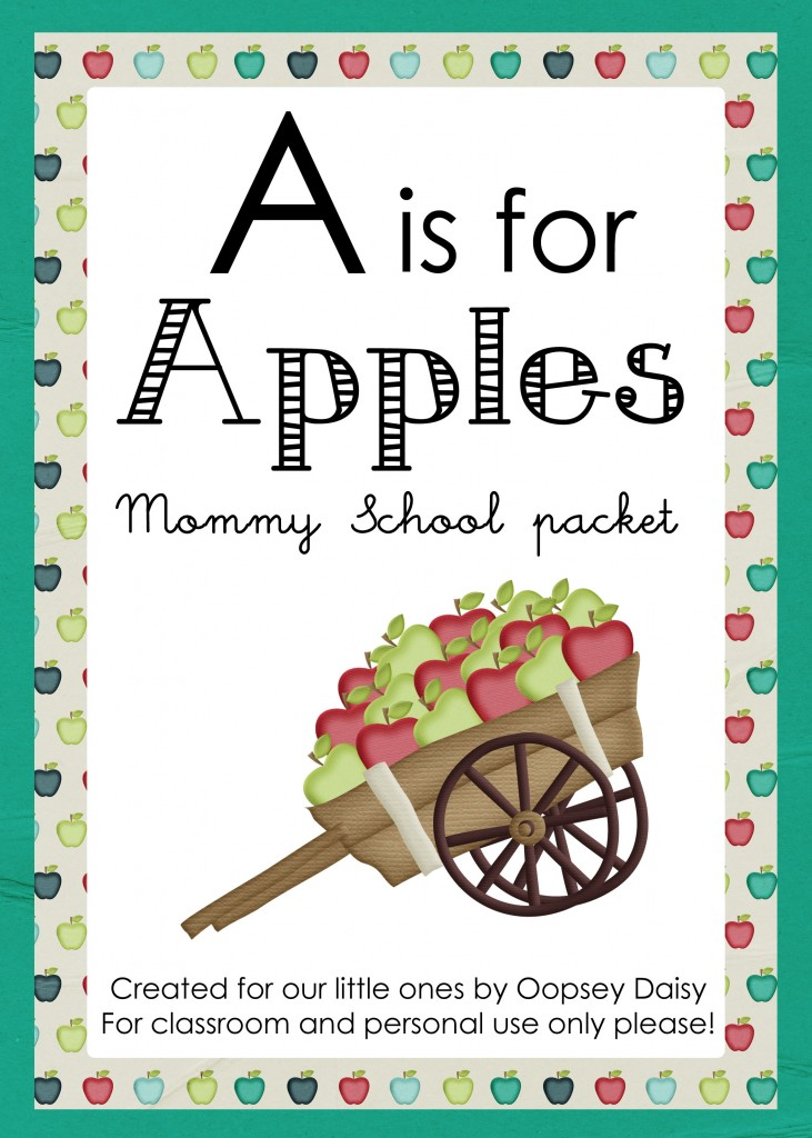 Free Homeschool Printables: A is for Apples