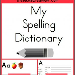 Free Printable Spelling Dictionary for Kids