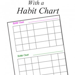 Free Teaching Character with a Habit Chart