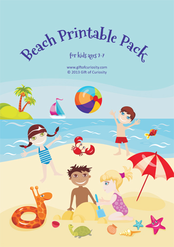 Free Worksheets: Beach Printable Pack for ages 2-7 ...