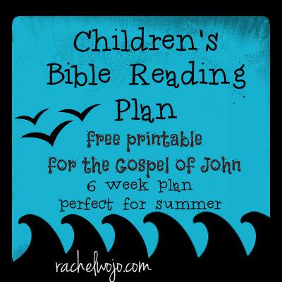Free 6 Week Children's Bible Reading Plan