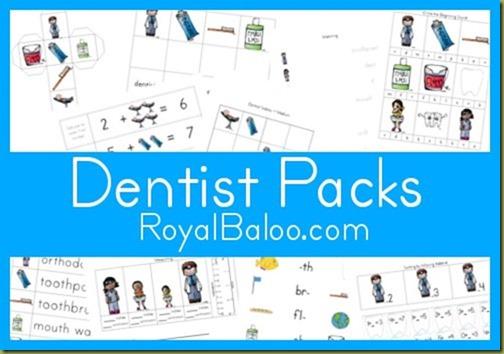 Free Worksheets: Dentist Printable Packs