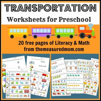 Free Transportation & Truck Themed Printables