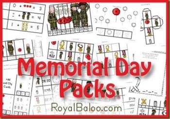 FREE Memorial Day Packs (for K-2)!
