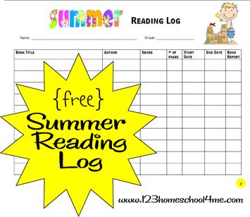 free reading logs