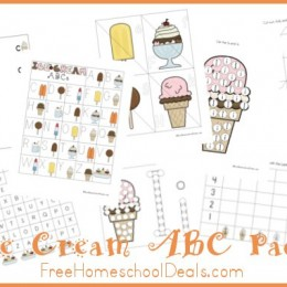 Free Ice Cream ABC Printable Pack