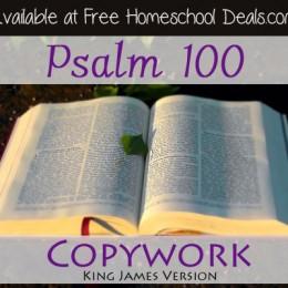Free Psalm 100 Bible Copywork KJV
