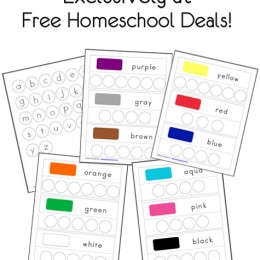 FREE Bottle Cap Color Activity Pages {Instant Download}