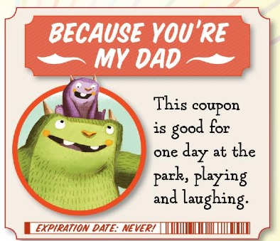 free father's day printable coupons