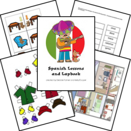 FREE Spanish Lessons and Lapbook