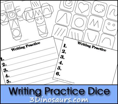 Free Writing Practice Dice Printable