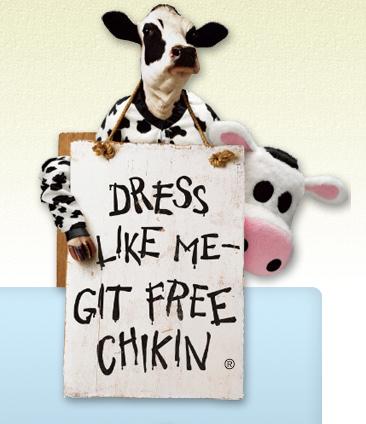 Free Chick-fil-a Meal on July 12, 2013 – Dress Like a Cow