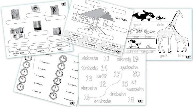 free german printable worksheets. Black Bedroom Furniture Sets. Home Design Ideas