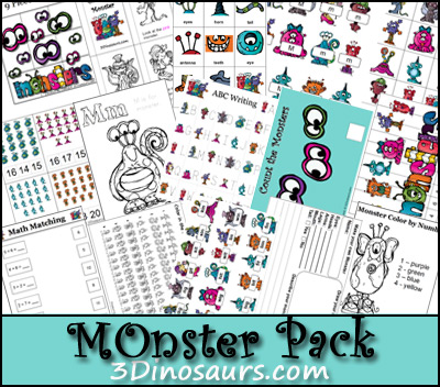 Free Homeschool Printables: Monster Pack!