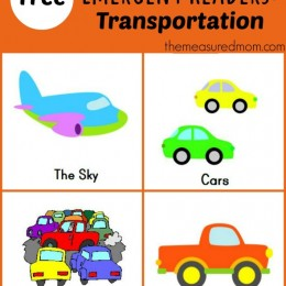 Free Printable Emergent Readers: Transportation!