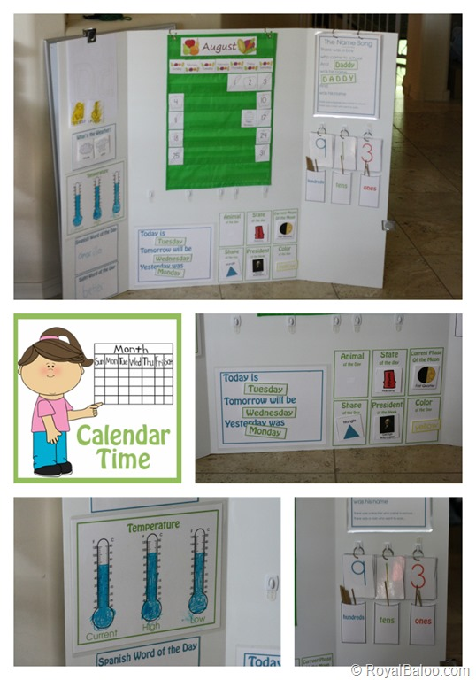 FREE Calendar Board Learning Printables