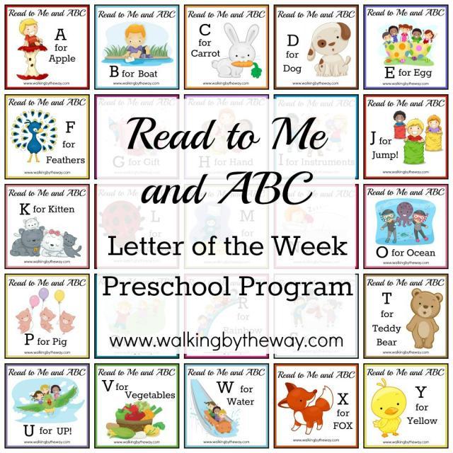 FREE Letter of the Week Preschool Program: Read to Me & ABC